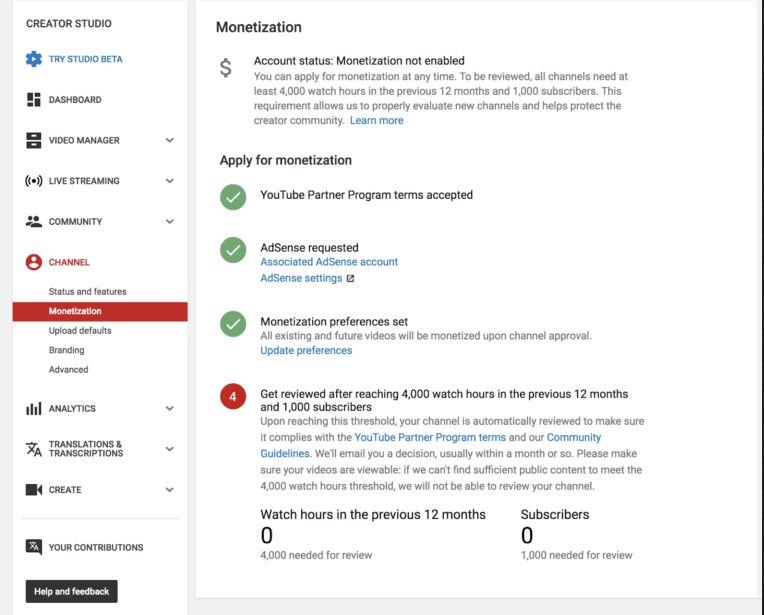 monetización de Youtube 4