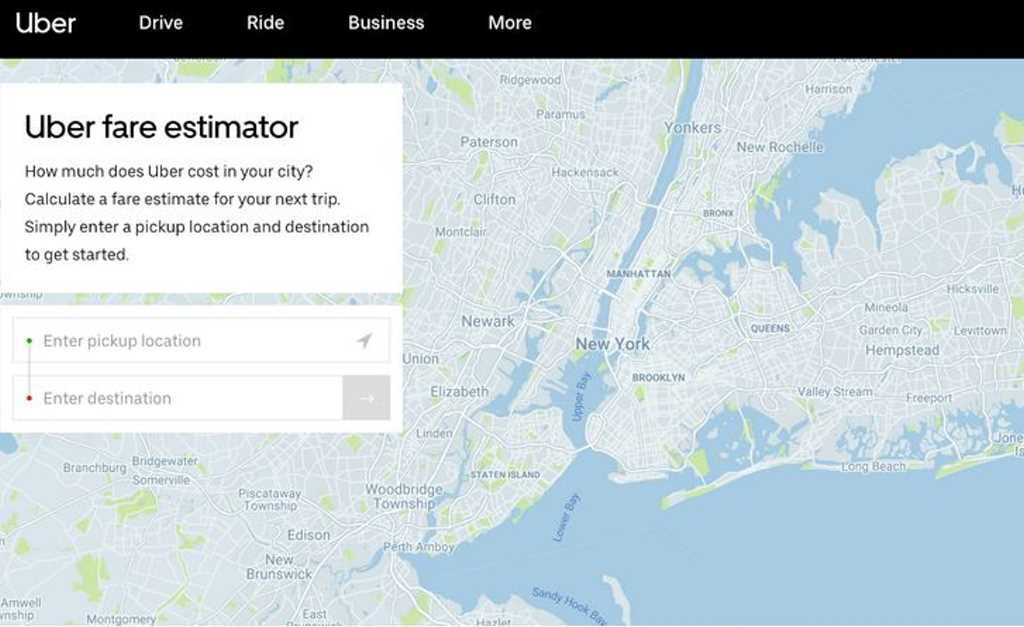 uber estimador