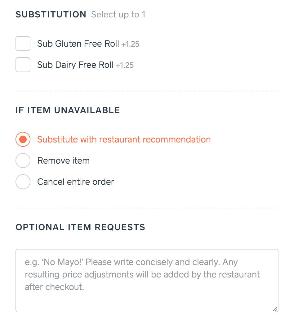 Trycaviar: las opciones cuando los artículos pedidos no están disponibles