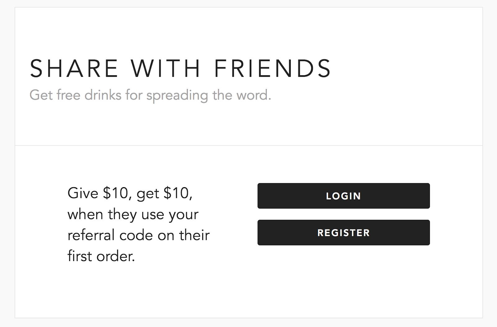 La página para registrarse en Minibar y ahorrar $10 con un código de referencia