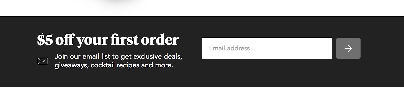El lugar para inscribirse en la lista de correo electrónico de Minibar y ahorrar $5