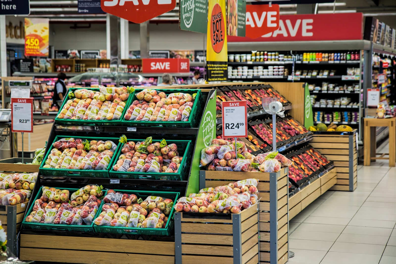 Manzanas en el supermercado