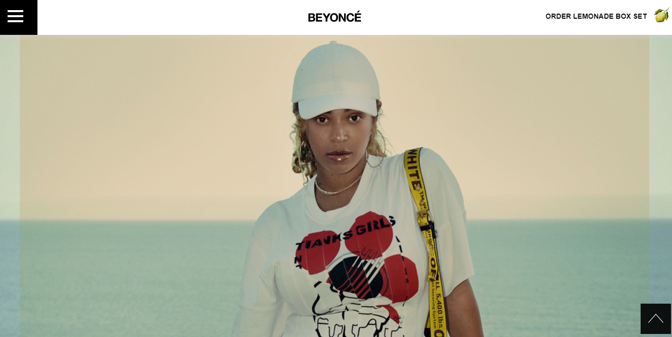 sitio web de Beyonce