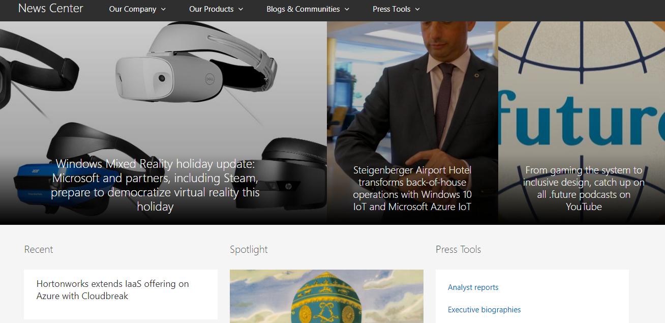 sitio web de microsoft