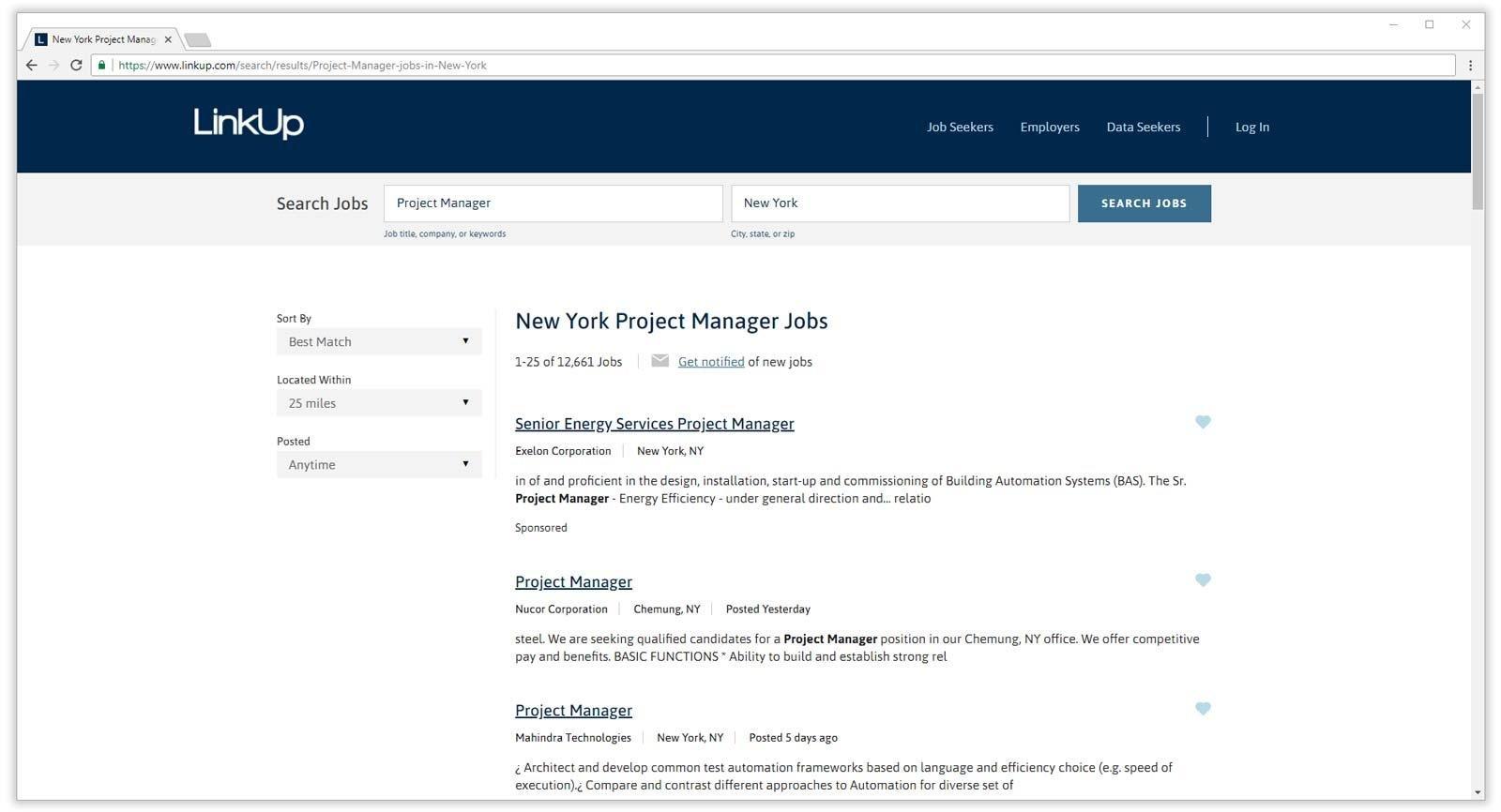 resultados de búsqueda de empleo de linkup