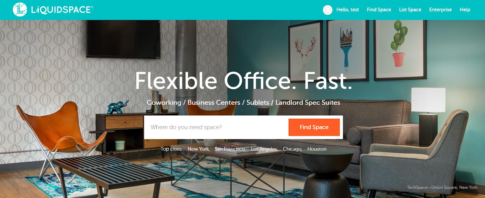 liquidspace: oficina flexible