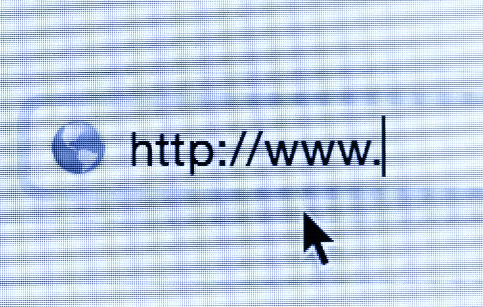 barra de direcciones que muestra http: // www.