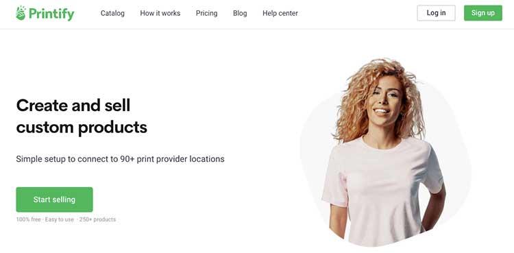 Productos impresos personalizados de Printify