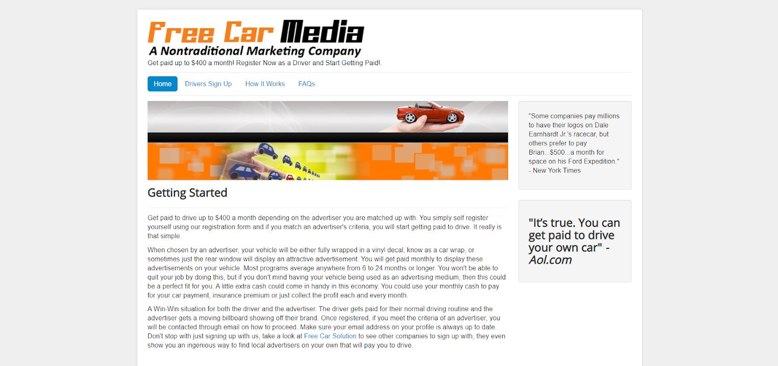 Free Car Media, una forma de cobrar por anunciar en su automóvil