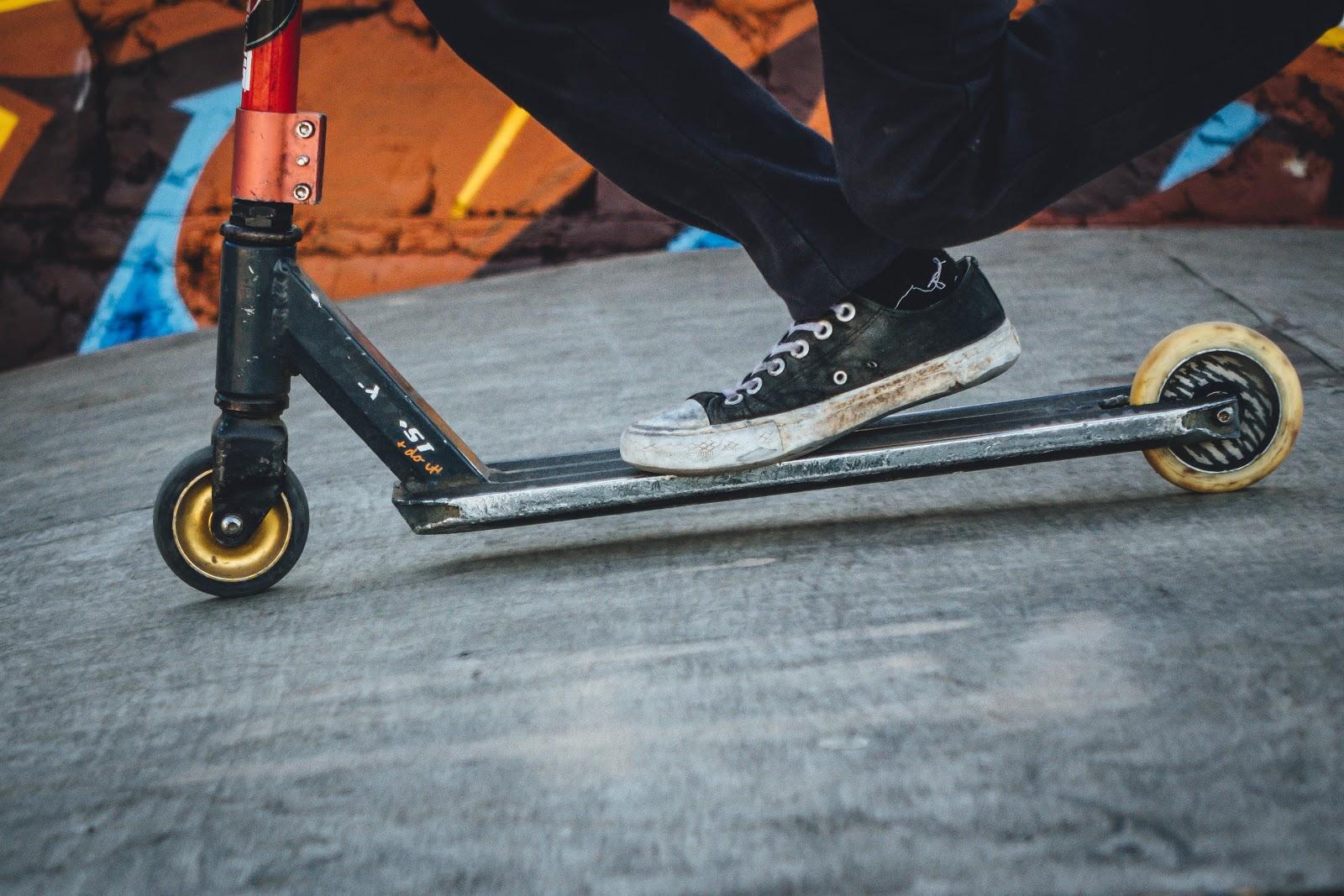 Spin Scooters: un scooter en acción