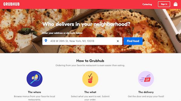 Códigos promocionales de GrubHub para usuarios nuevos y existentes