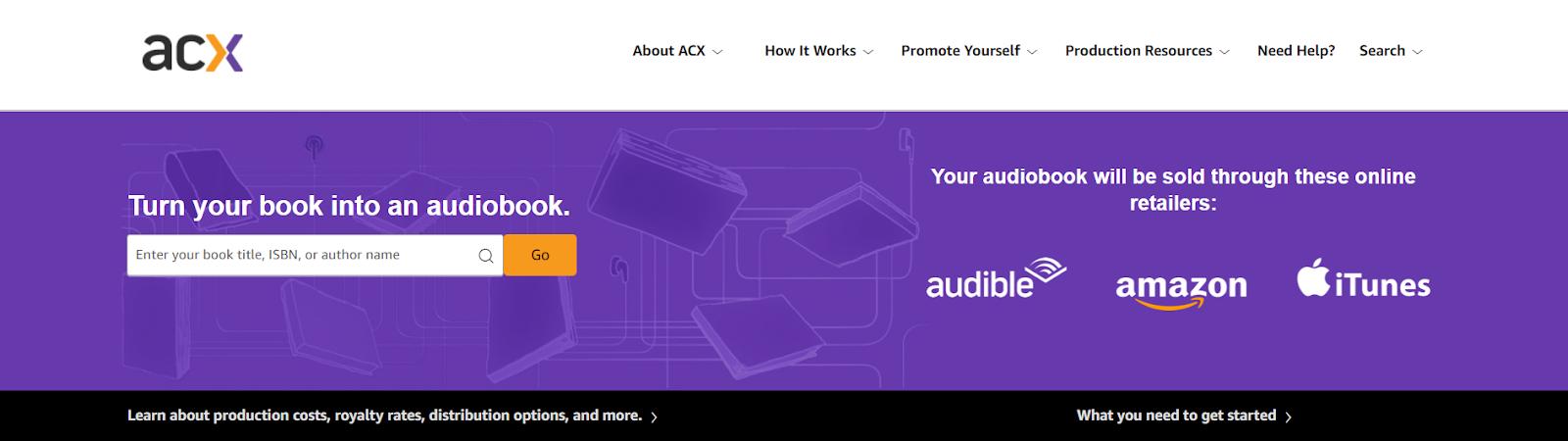 Sitio web de ACX