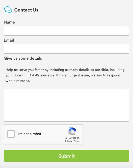 El formulario de contacto Handy