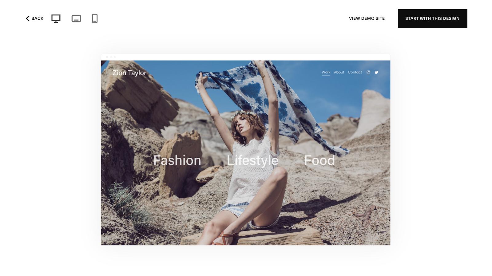 Cómo convertirse en un estilista personal en línea: página de inicio de Zion Taylor