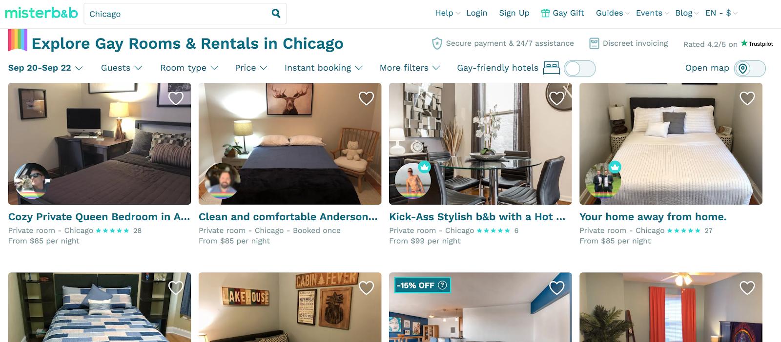 misterb & b: alquiler de habitaciones gay en Chicago