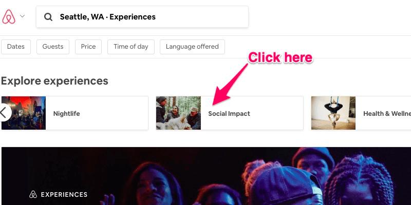 Experiencias Airbnb: filtros para experiencias por tema en Airbnb.com