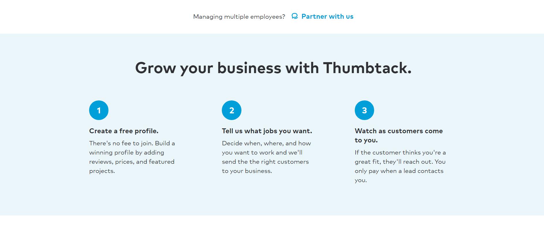 Instrucciones sobre cómo usar Thumbtack