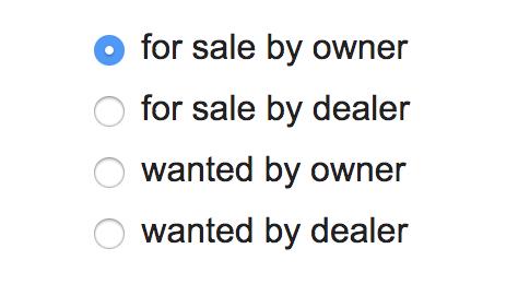 Cómo vender en Craigslist: elija las opciones del vendedor
