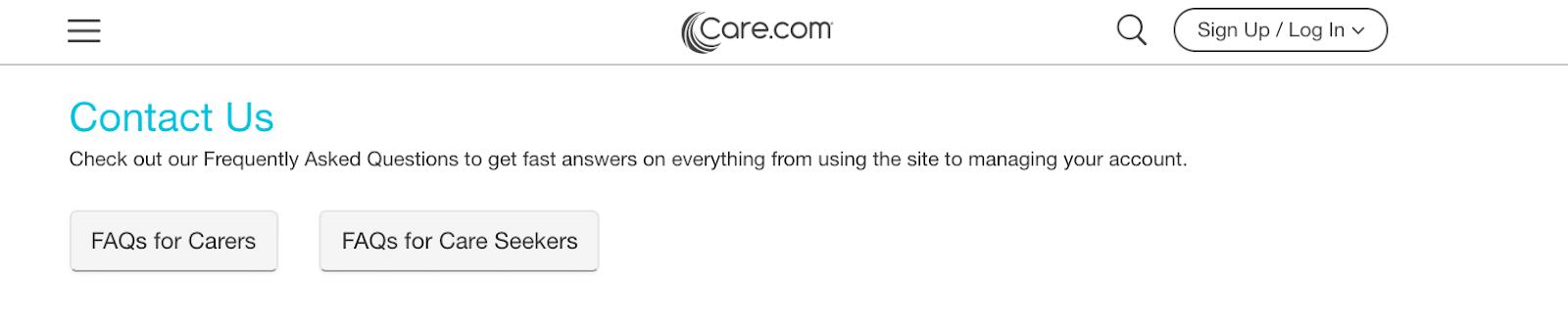 El número de teléfono de Care.com, otras formas de comunicarse con el servicio de atención al cliente de Care.com
