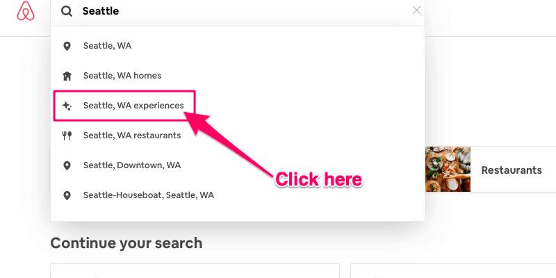 Experiencias de Airbnb: la función de búsqueda de Experiencias en Airbnb.com