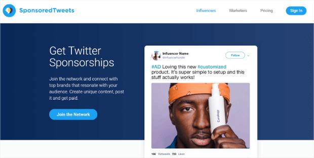 ejemplo de tweet patrocinado