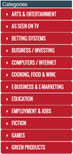 categorías de afiliados de clickbank