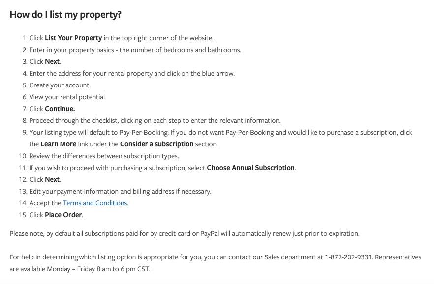 HomeAway VRBO: instrucciones para publicar su propiedad en el sitio VRBO