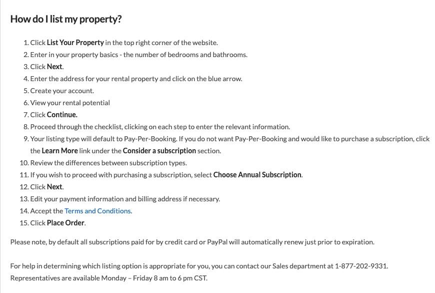 HomeAway VRBO: instrucciones para publicar su propiedad en el sitio de HomeAway