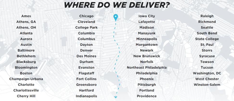 GoPuff: ¿Dónde entregamos?