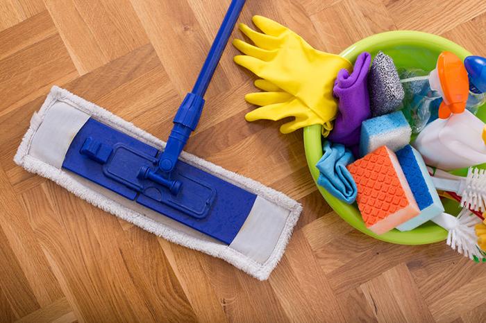 lista de verificación de suministros de limpieza de la casa