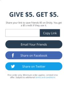 Drixly Giv $ 5 Obtenga una promoción de $ 5