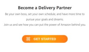 Proceso de registro del controlador de Amazon Flex