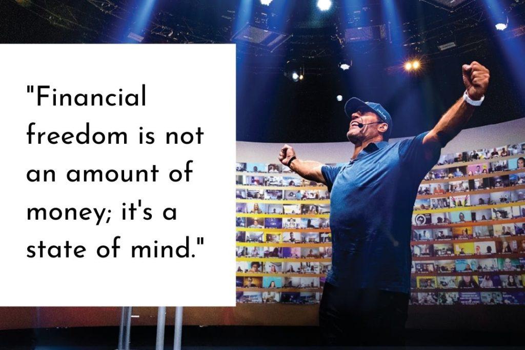 """""""La libertad financiera no es una cantidad de dinero;  es un estado de ánimo."""""""